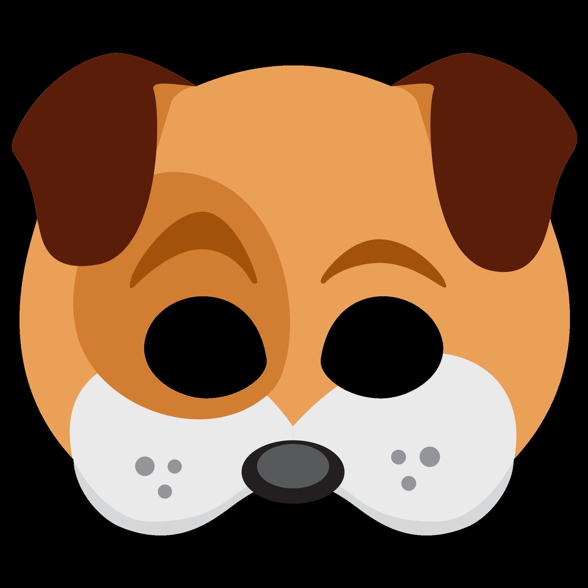 Dog face sticker png. Mask clipart criminal