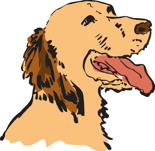 Panting dog clip art. Clipart dogs football