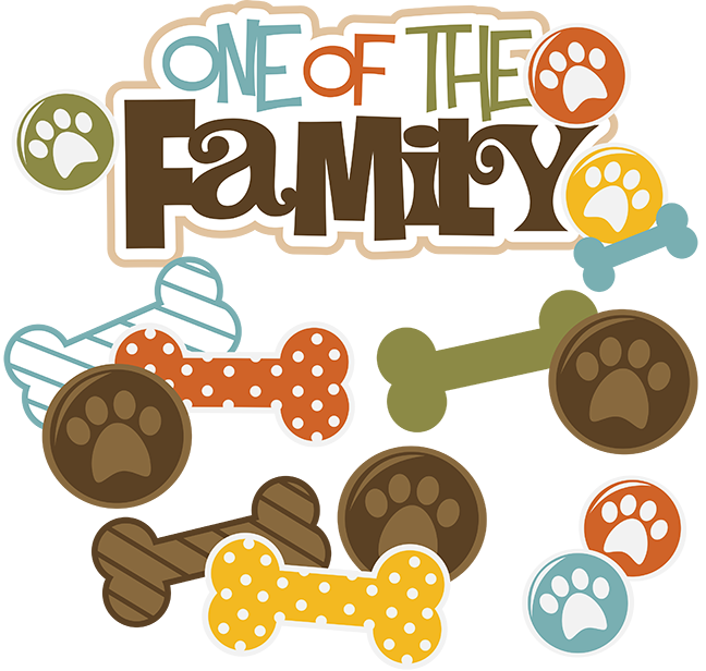 One of the dog. Scrapbook clipart family