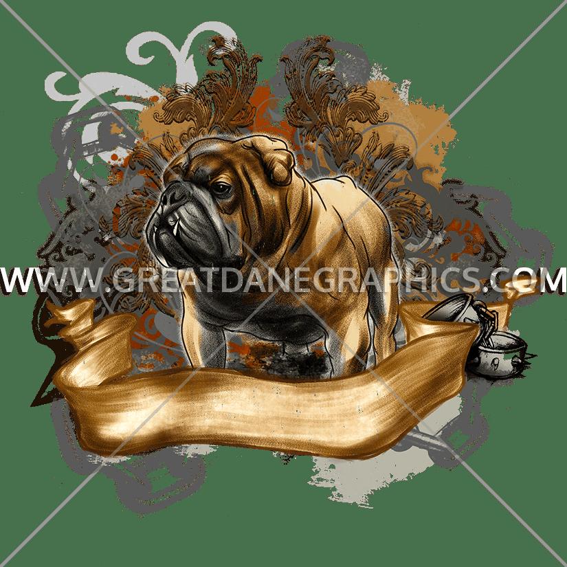 Dog clipart fashion. Bulldog production ready artwork