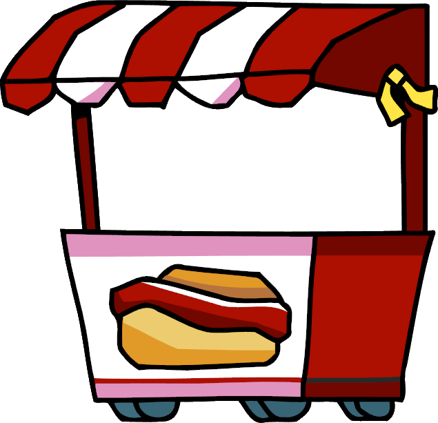 Hot dog stand scribblenauts. Exercising clipart food