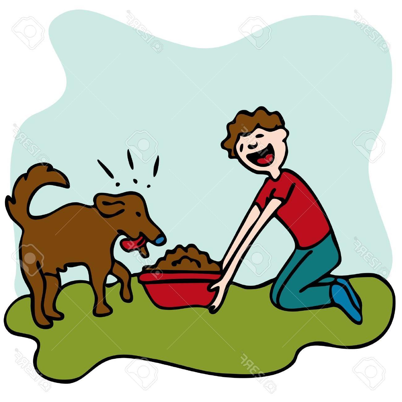 Dog clipart feed. Hd clip art vector