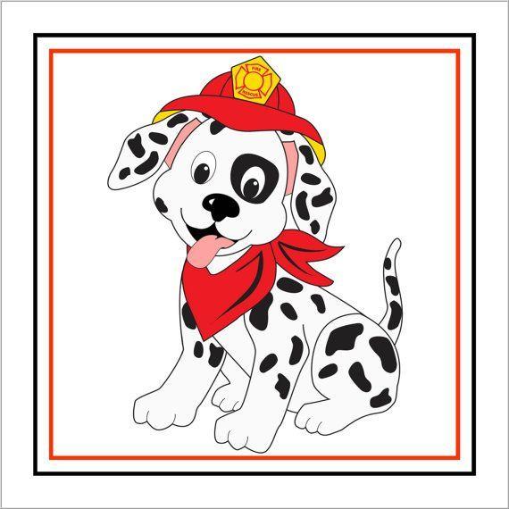 Dalmation hat fire hydrant. Firefighter clipart dalmatian