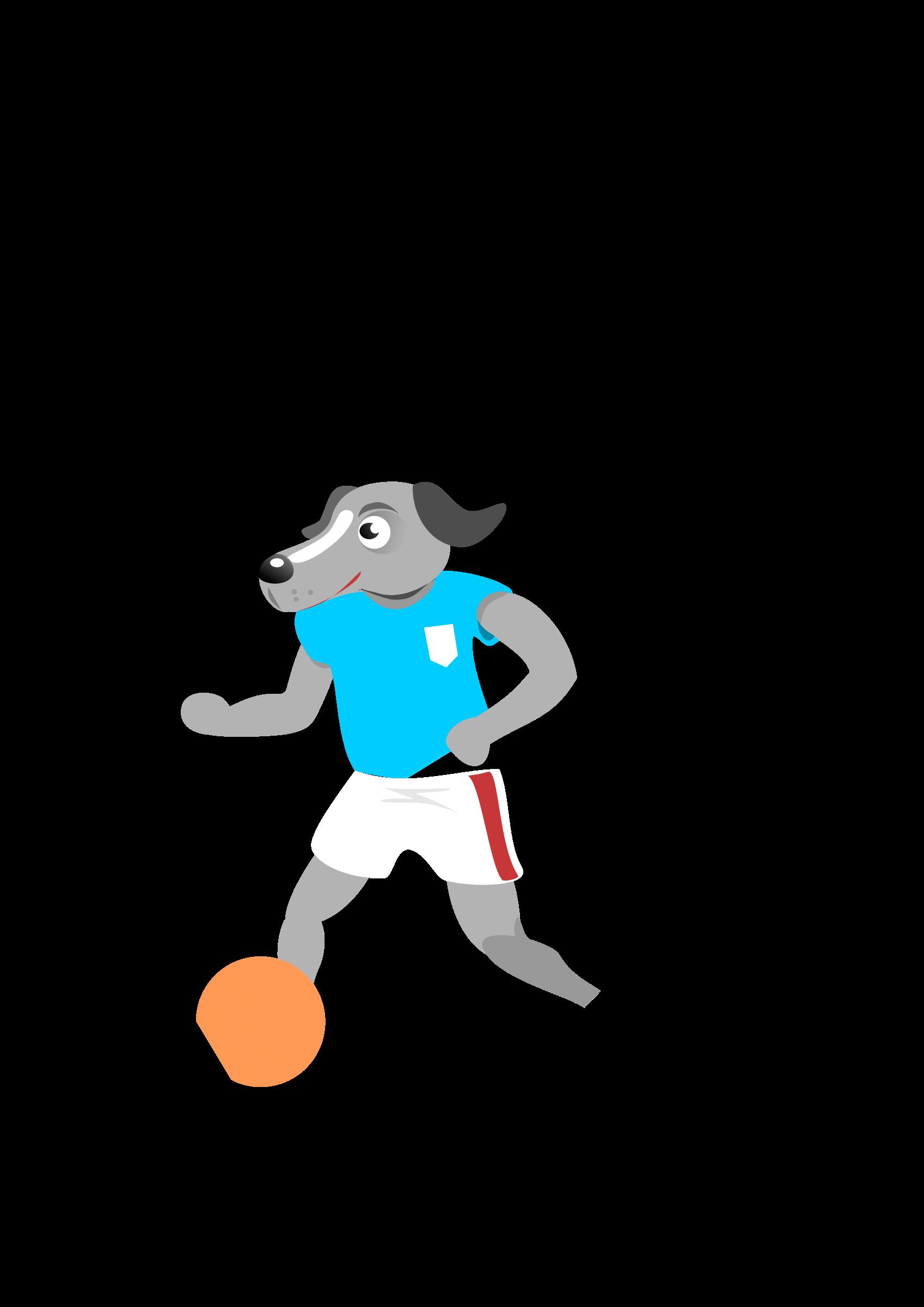 Clipart dog football. Soccer big image png