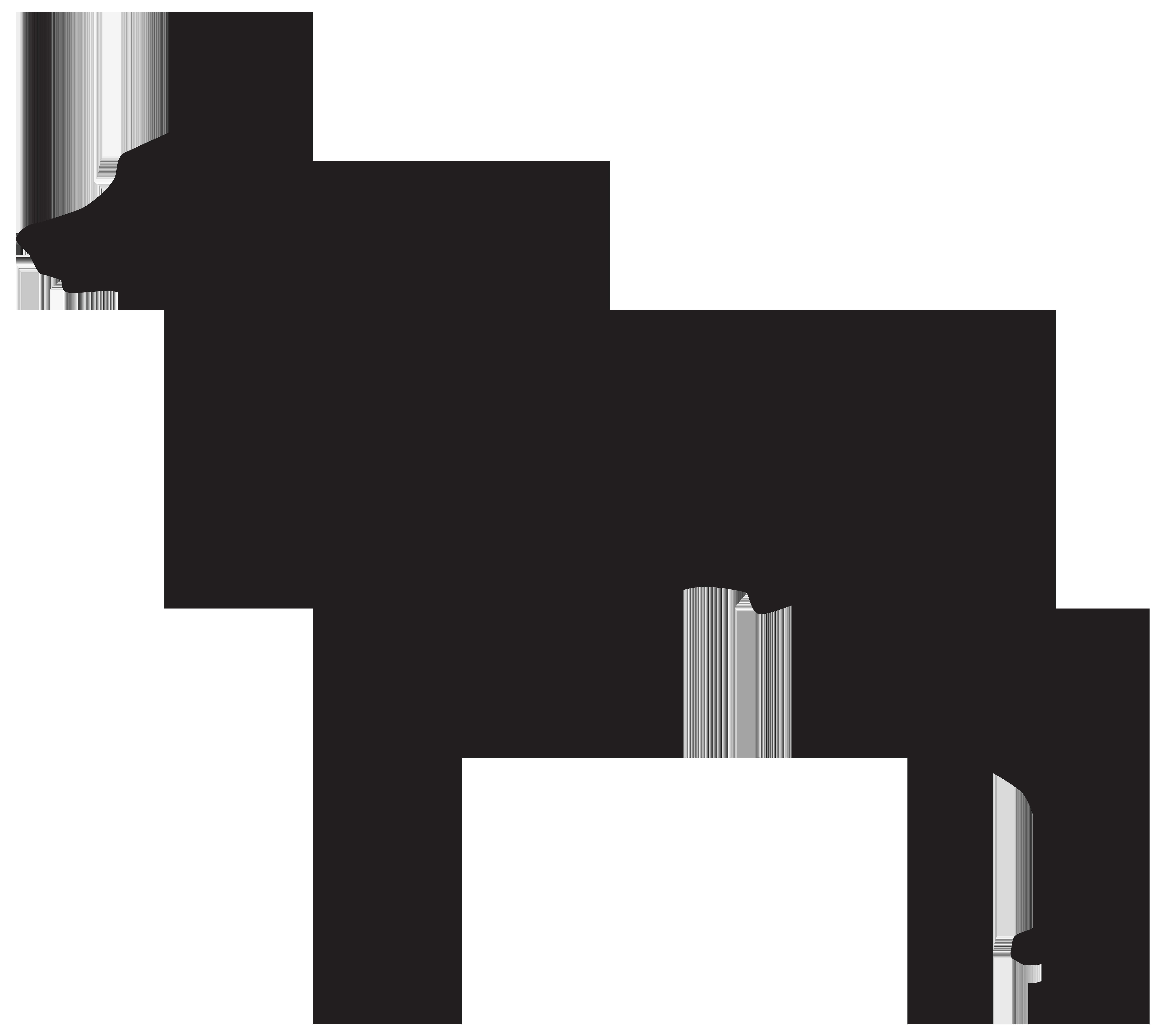 German shepherd silhouette clip. Mad clipart rottweiler