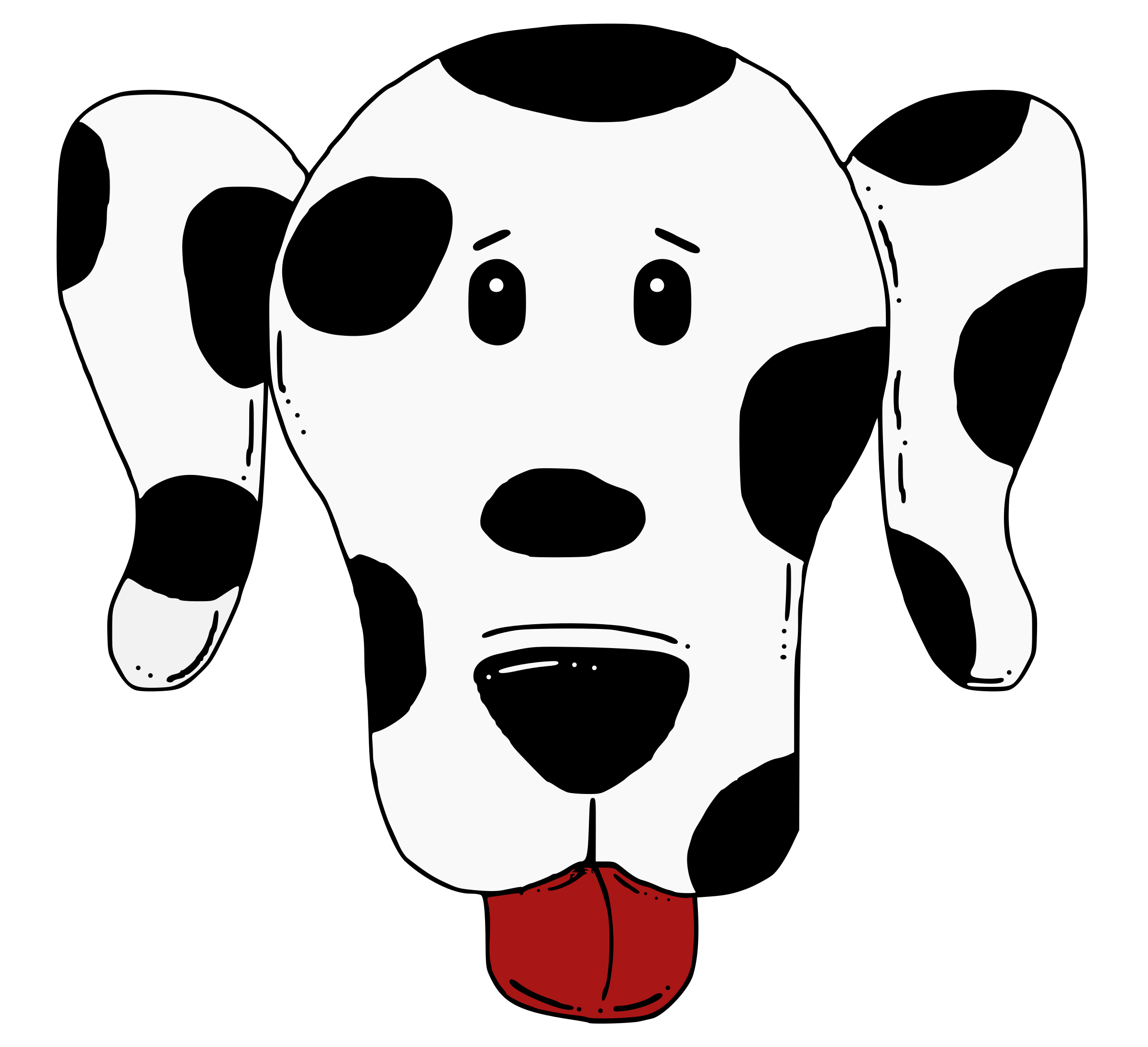 Dogs clipart head. Spotty dog big image