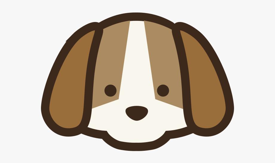 Dogs clipart head. Easy dog cute cartoon