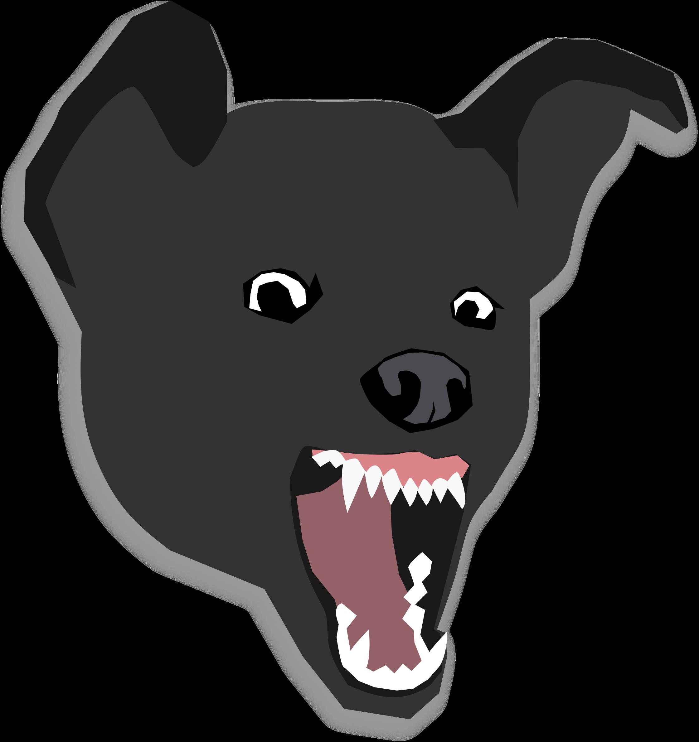 Husky clipart dogr. Mean dog big image