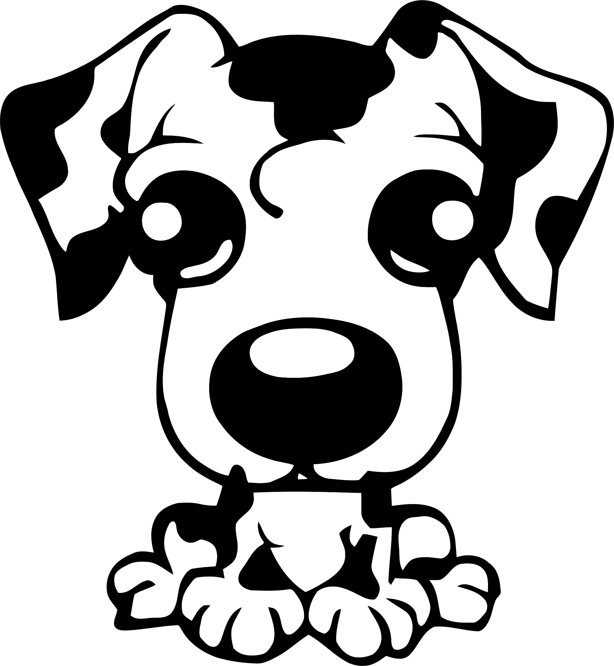 Clipart puppy outline. Icon