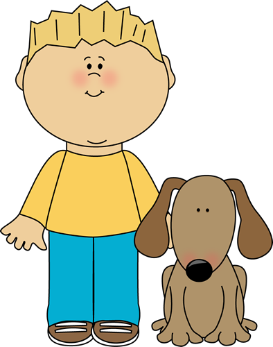 Kid hugs dog images. Dogs clipart boy