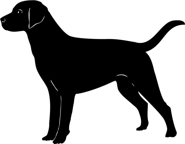Hunting clipart labrador silhouette. Cliparts silhouettes dog outline