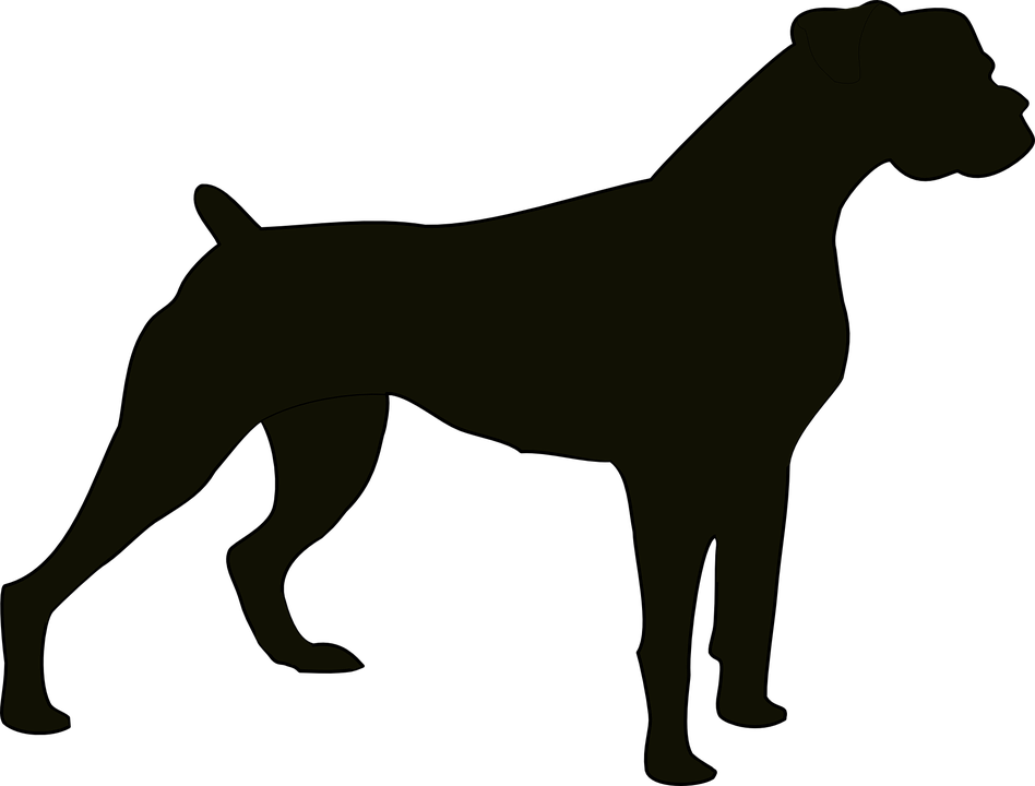 Free black and white. Paw clipart silhouette dog