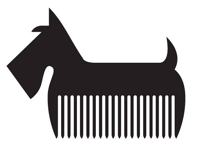 Human clipart grooming. Dog logos acur lunamedia