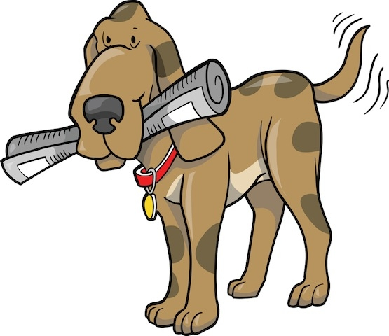 Clipart dog newspaper. With clip art library