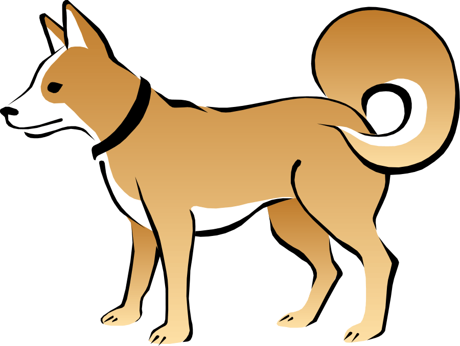 Dog barking group hanslodge. Fox clipart realistic