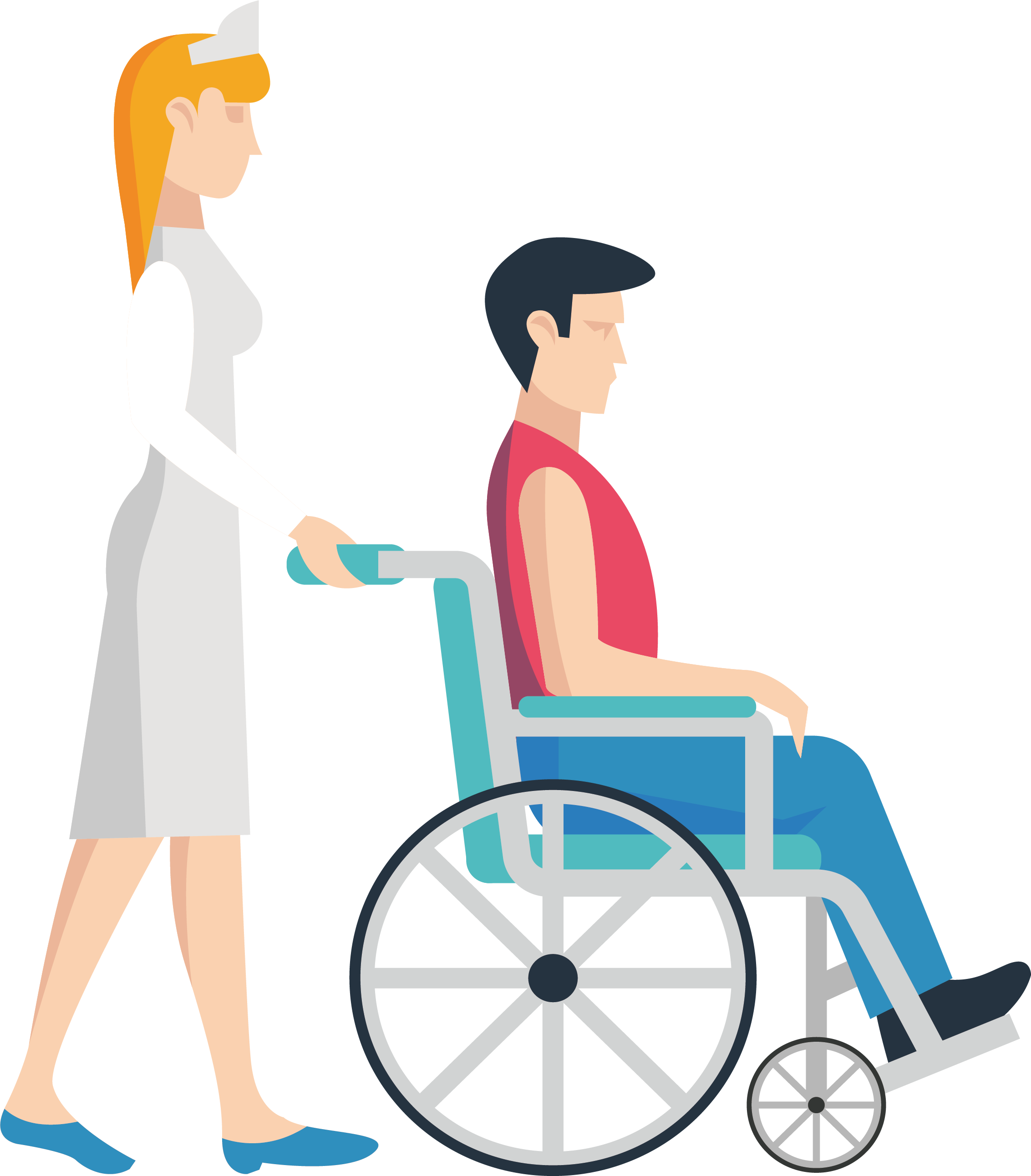 Nursing clipart director nursing. Wheelchair clip art push