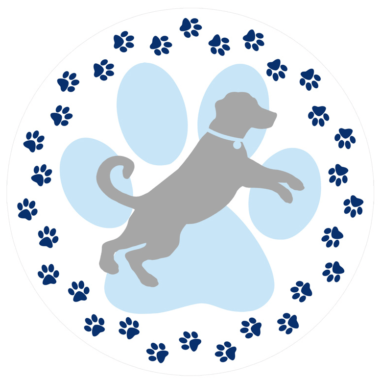 Pawprint clipart small dog. Paw prints screen door