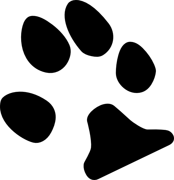 Trail clipart footprint. Dog paw print clip