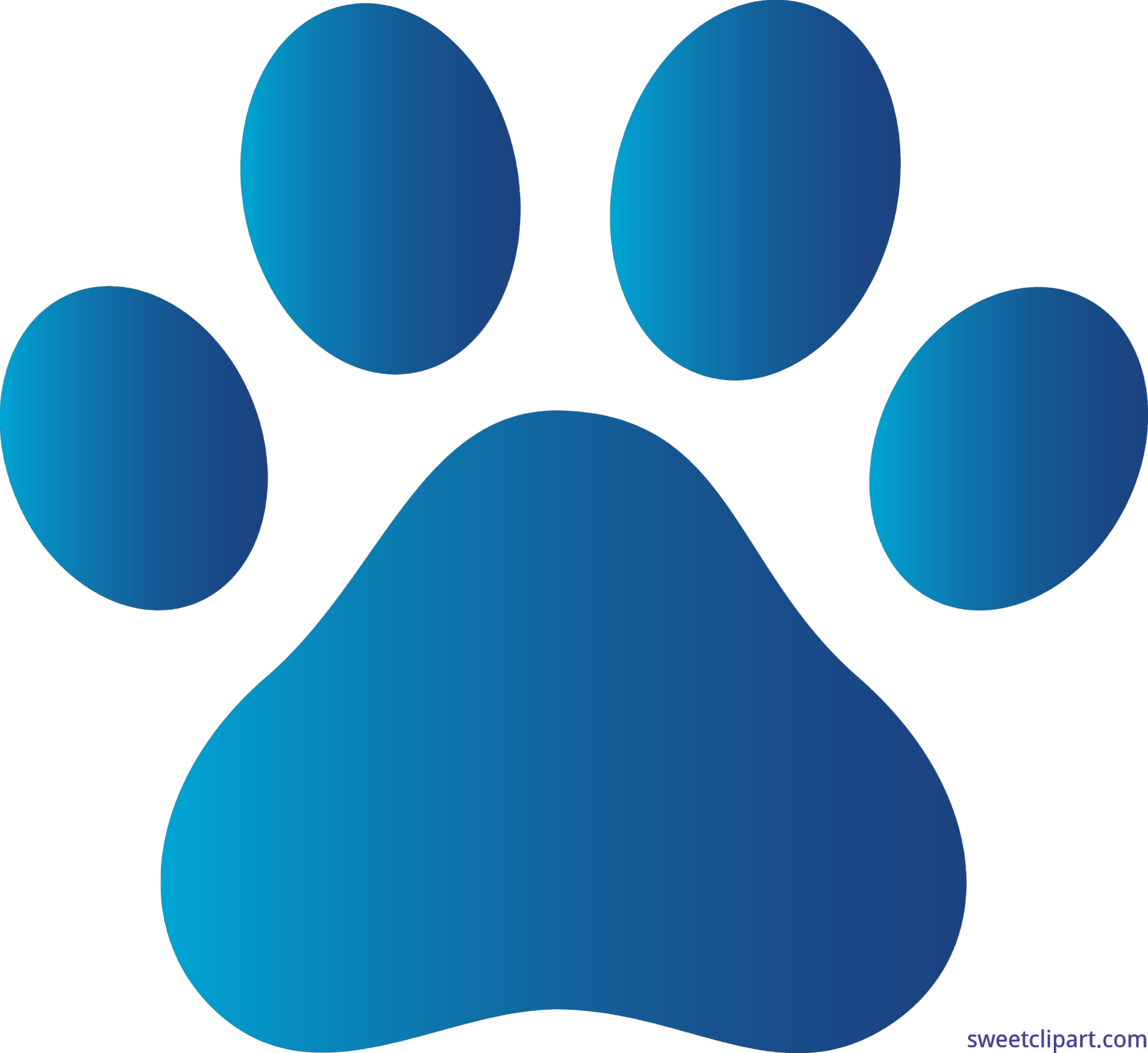 Paw print blue clip. Paws clipart green dog