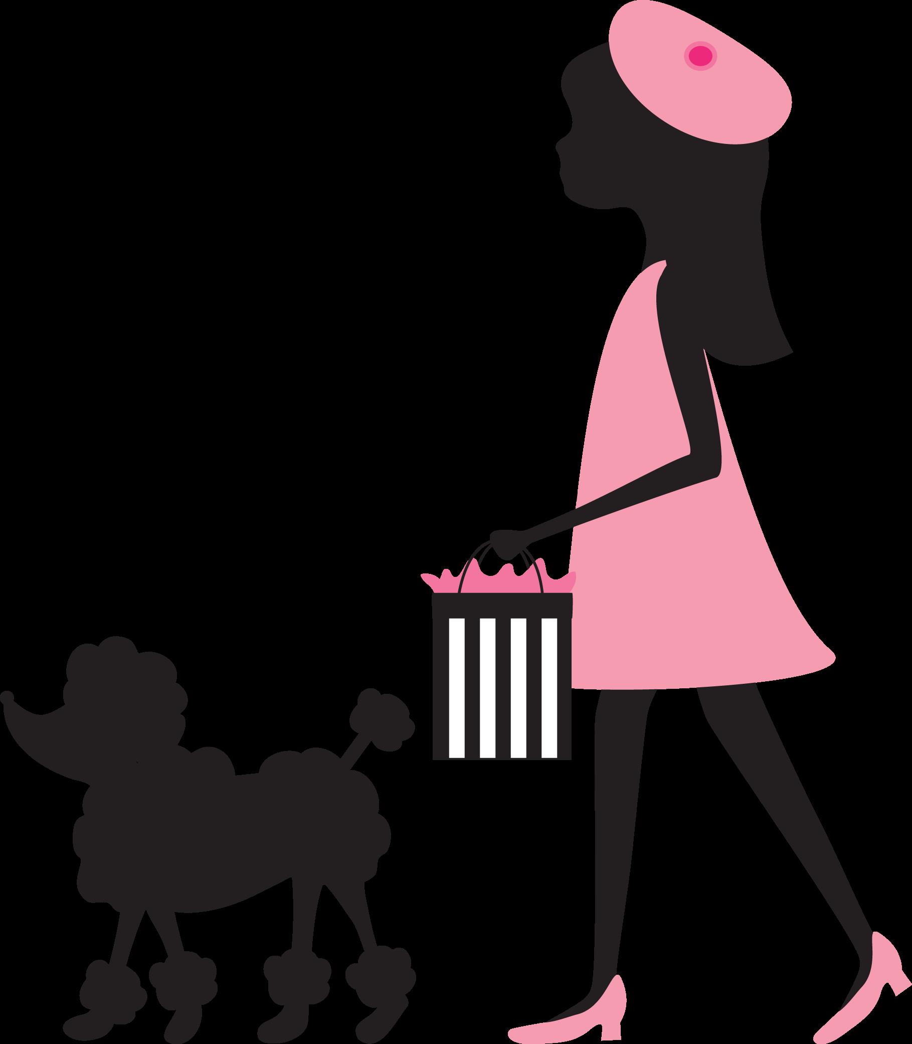 Poodle silhouette clip art. Closet clipart stock photo