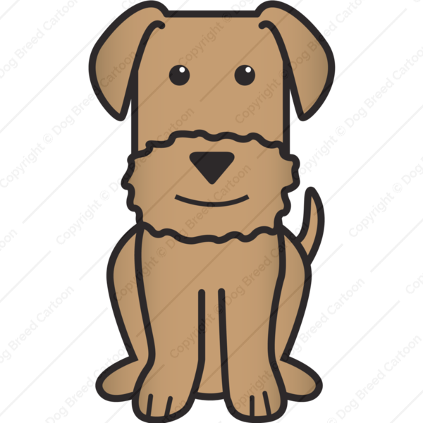 Airedale terrier brown edition. Clipart dog picture frame