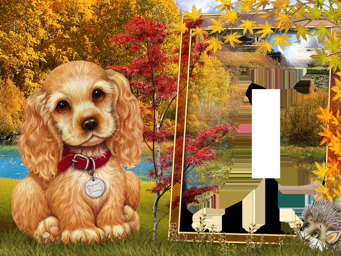 Fall style kids transparen. Frames clipart dog
