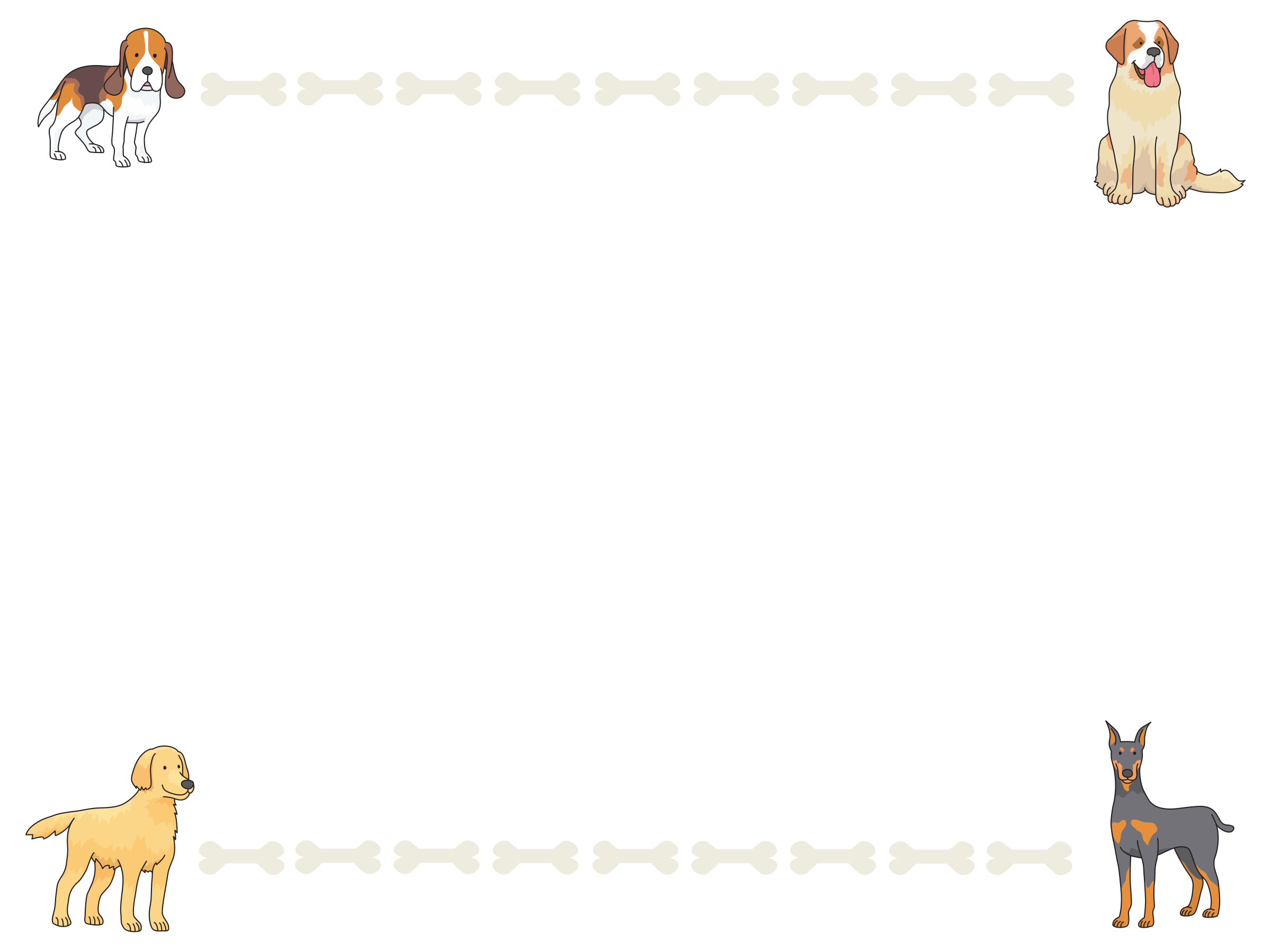 Dogs clipart picture frame. And bones big image