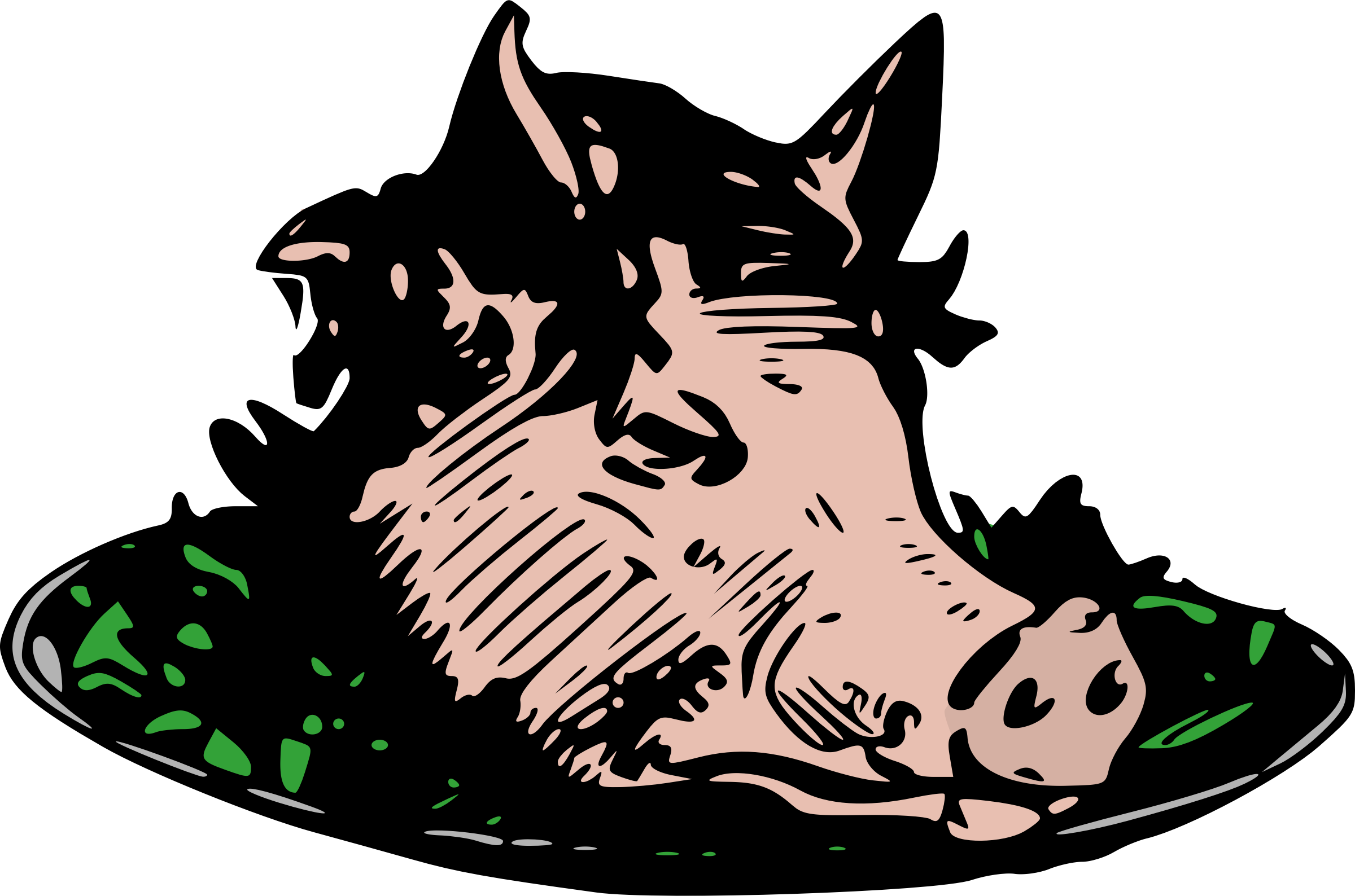 Head dinner big image. Clipart pig dog