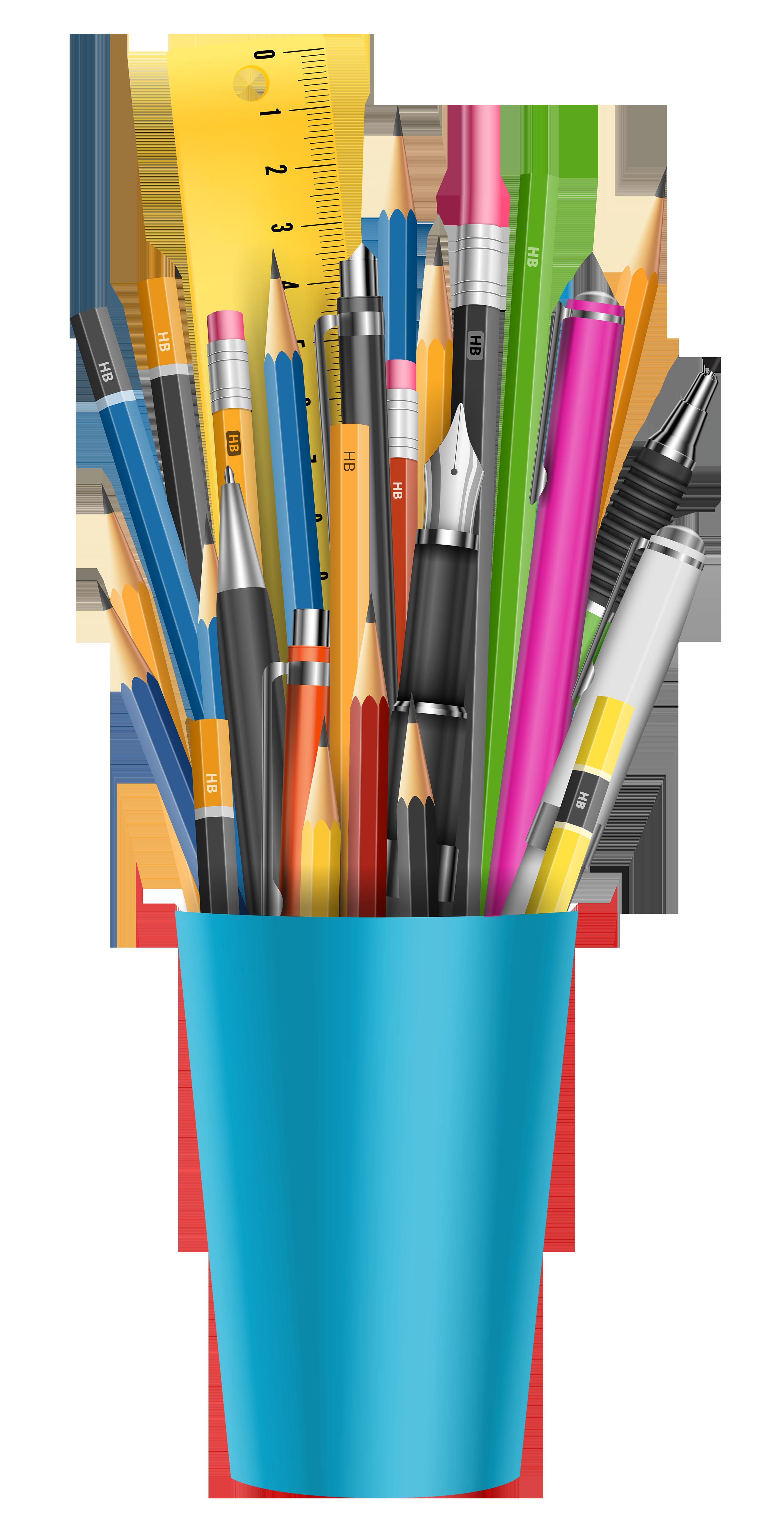 Pencil clipart label. Craft cup graphics illustrations