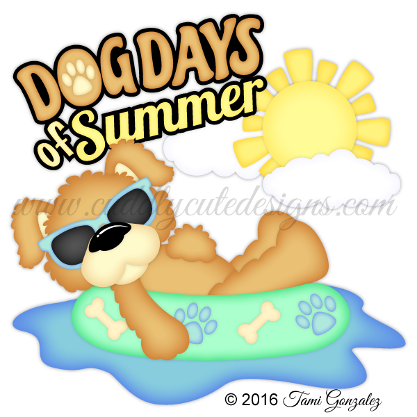 Animals dog days of. Pet clipart summer