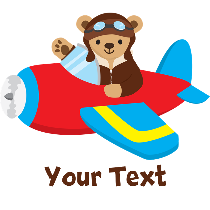 Kid clipart pilot. Cute teddy bear in