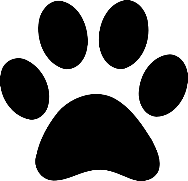 Horseshoe clipart footprint. Dog paw print clip