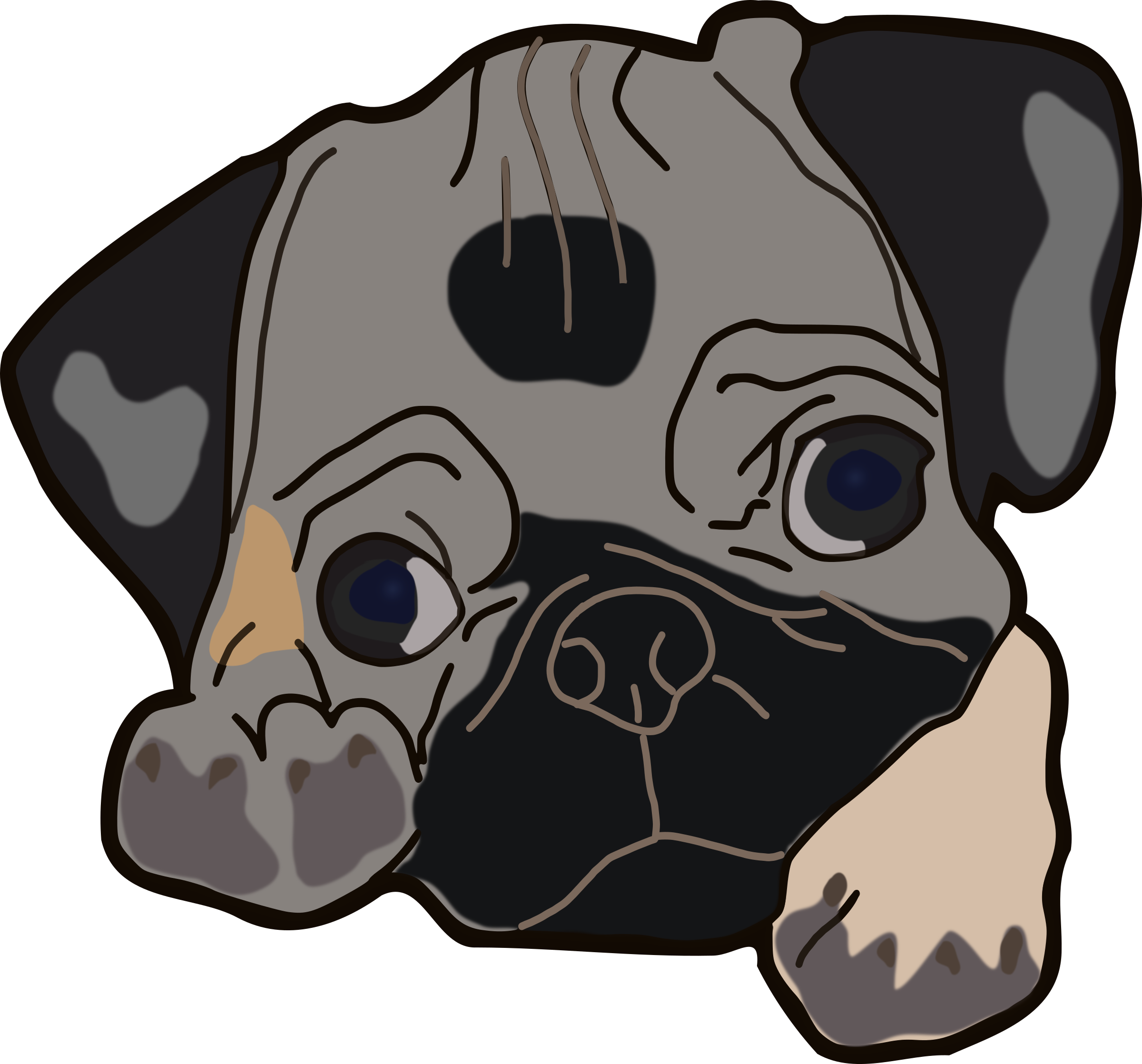 Puppy cute pencil and. Clipart dogs pug