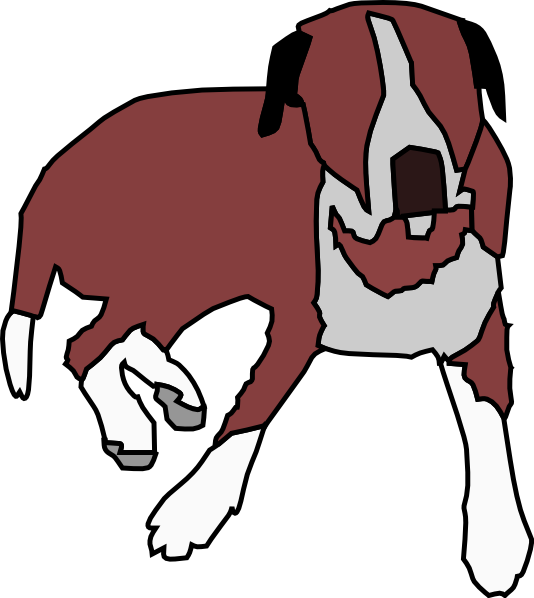 Clipart dogs red. Cartoon dog sitting clip