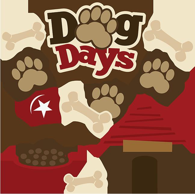 Dog days svg scrapbook. Pet clipart stuff