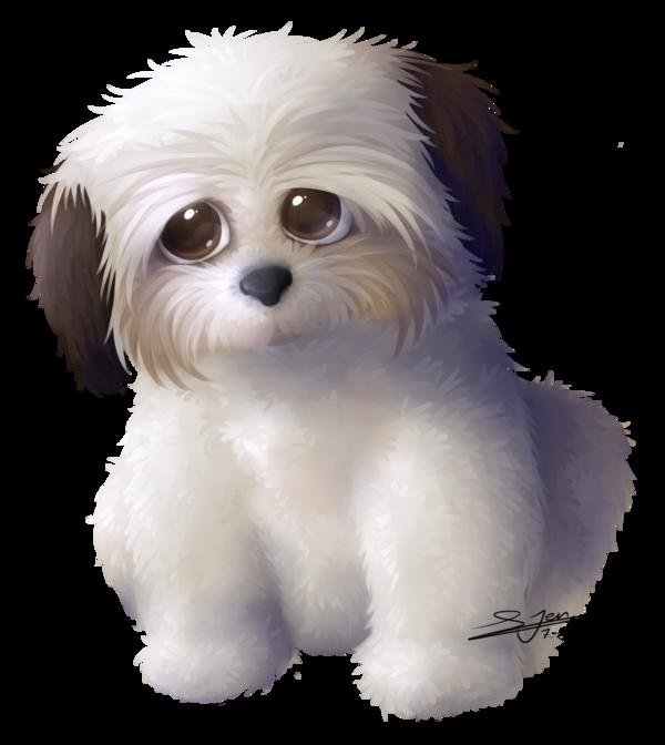 Commission shih tzu by. Clipart dog shitzu