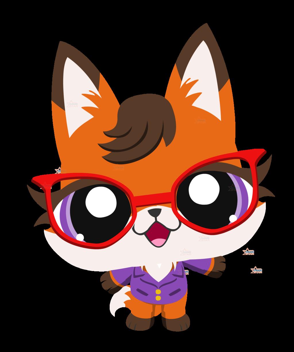 Littlest pet fox by. Clipart dog shop