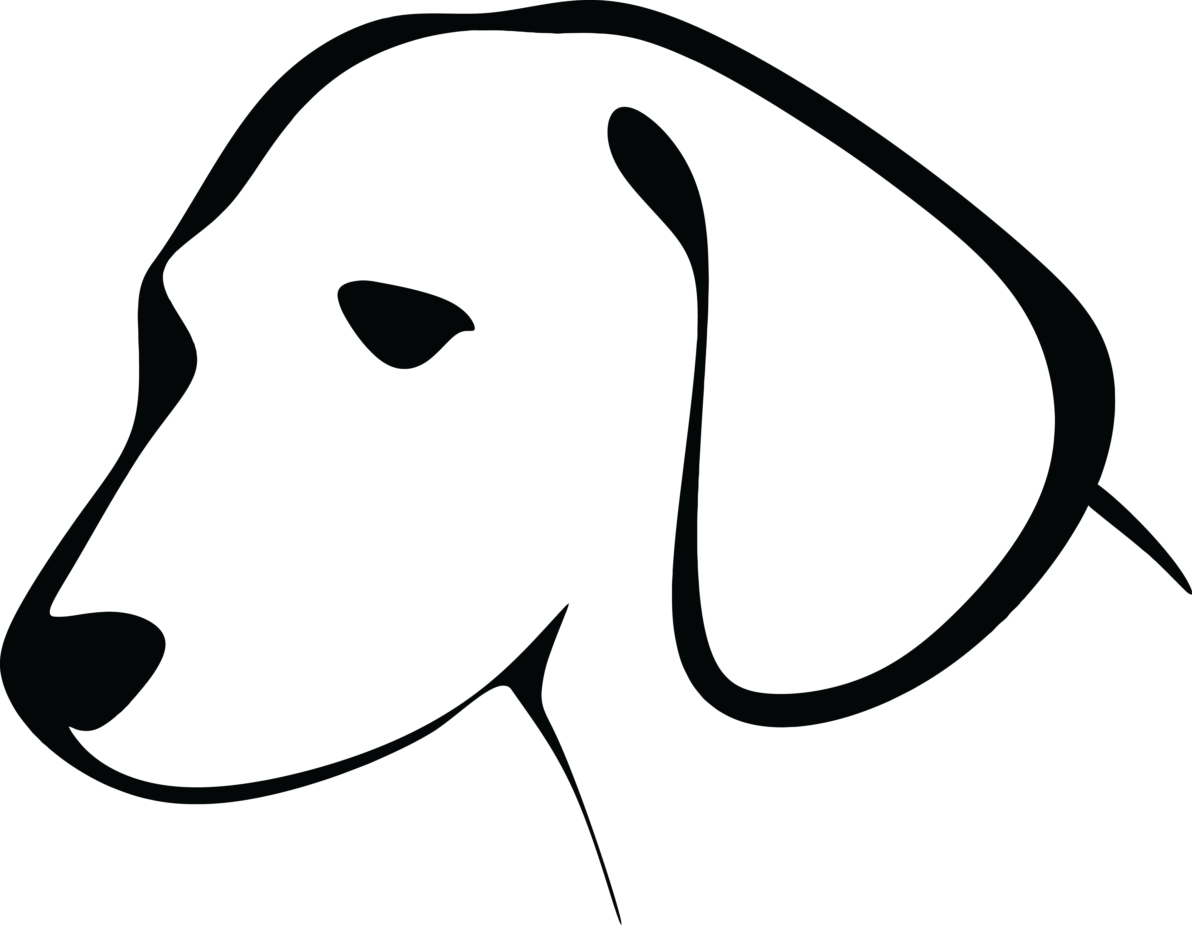 Clipart dog simple. Free black and white