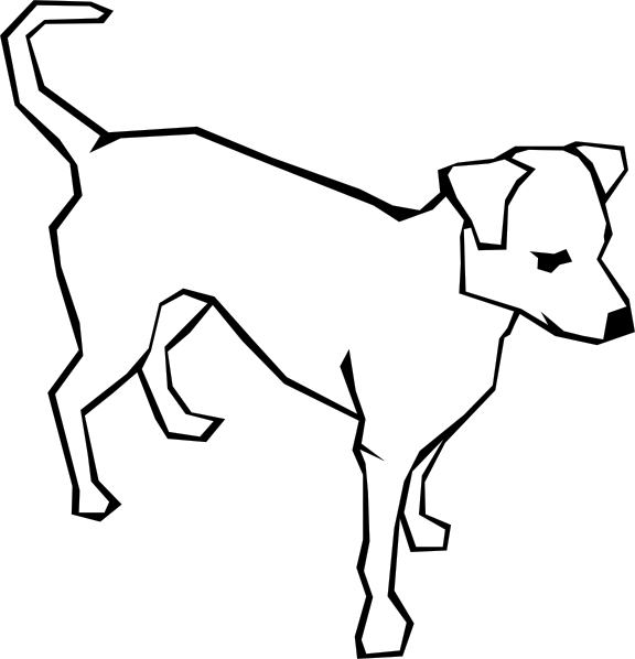 Drawing clip art at. Clipart dog simple