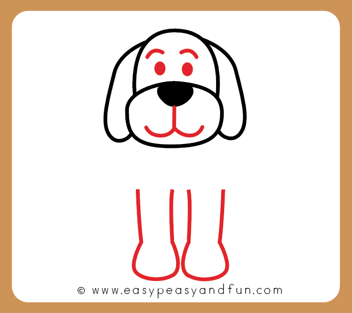 How to draw a. Clipart dog simple