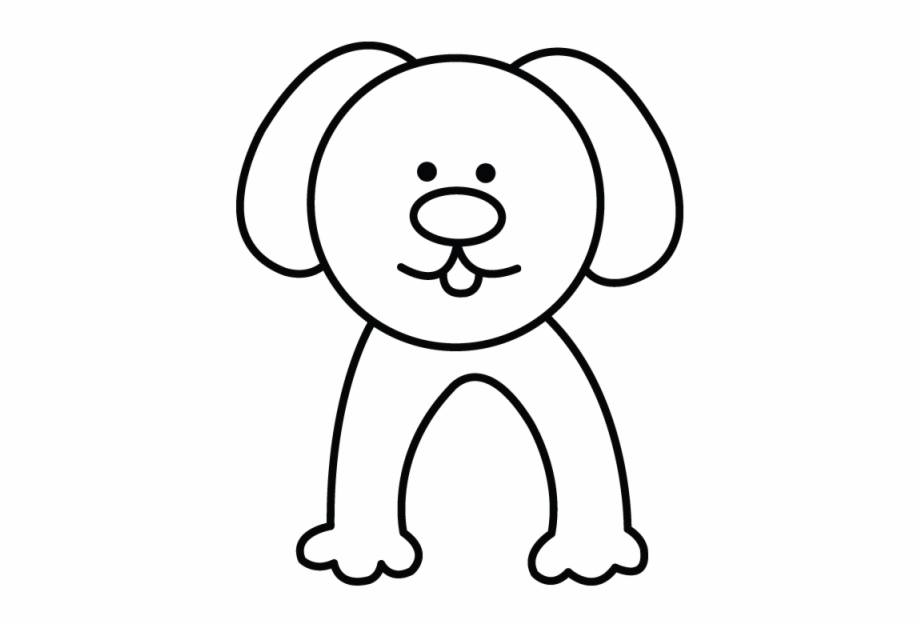 Clipart dog simple. Clip black and white