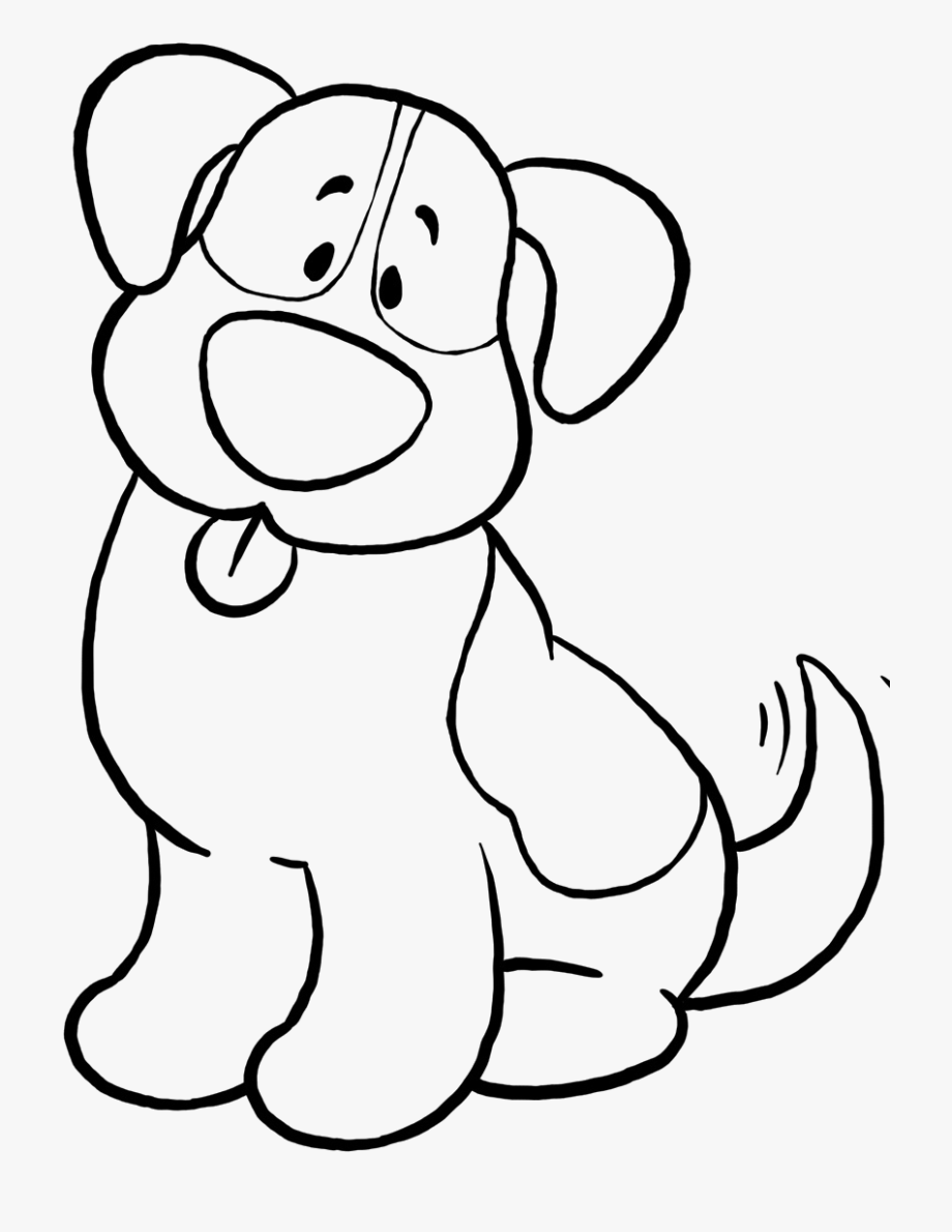 Coloring page printable . Clipart dog simple