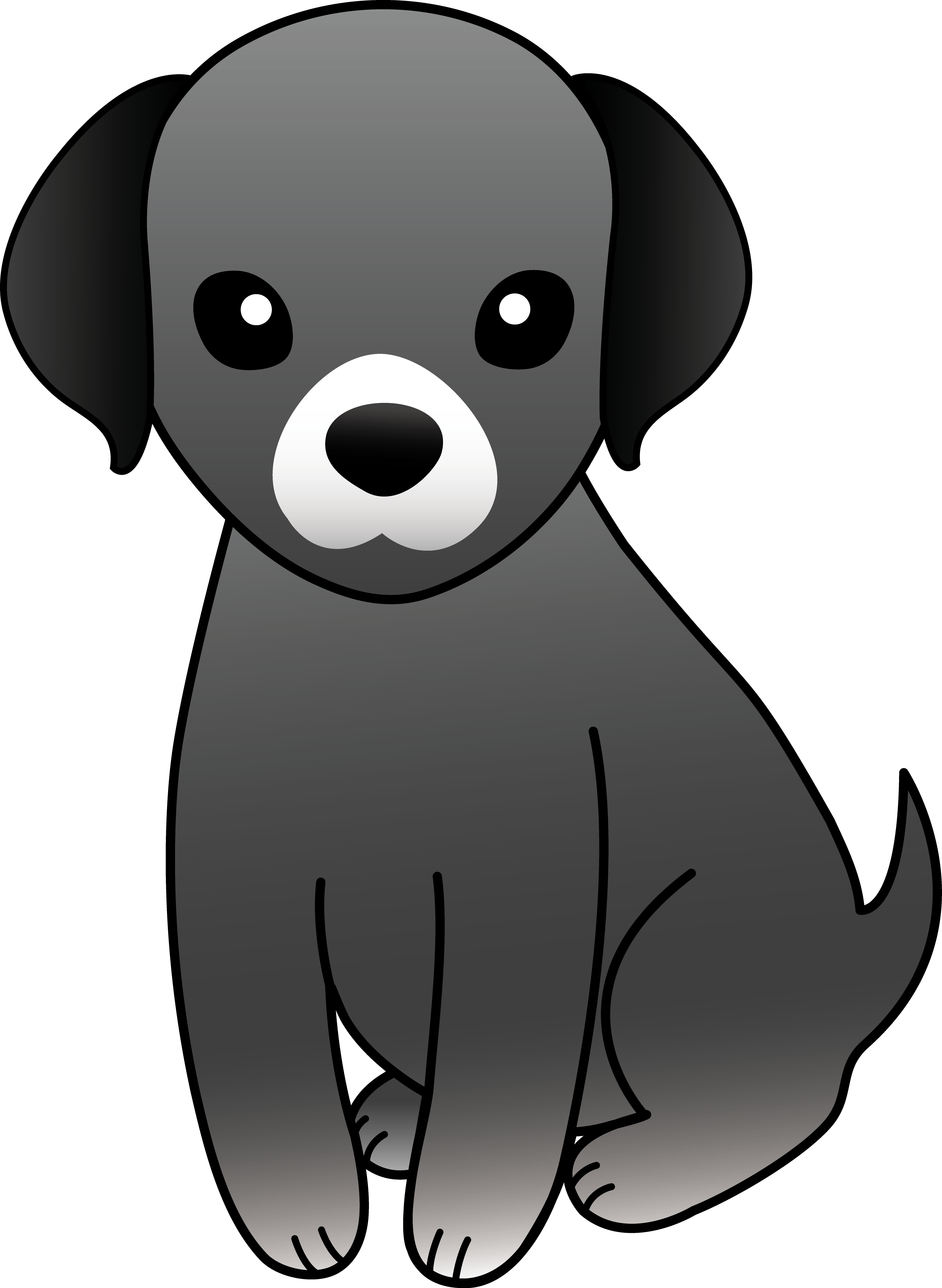 Black dog group. Pet clipart small pet