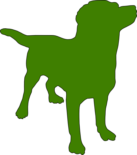 Clipart dogs stick figure. Green dog silhouette clip
