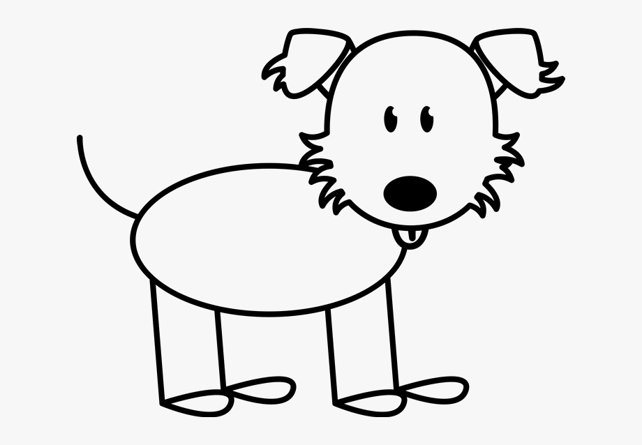 Dog clip art free. Clipart dogs stick figure