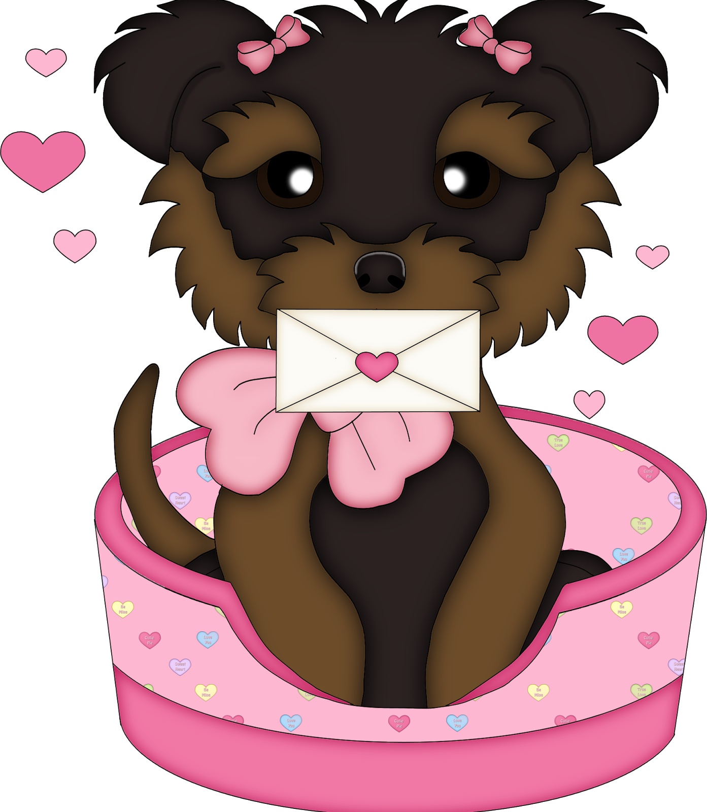 Valentine clipart dog. Cute s dogs oh