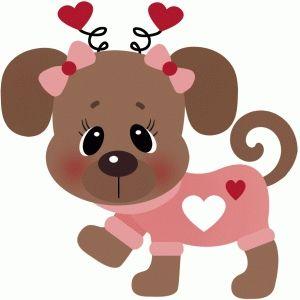 Dog in shirt valentines. Pet clipart valentine