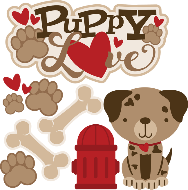 Puppy love svg scrapbooking. Pet clipart heart