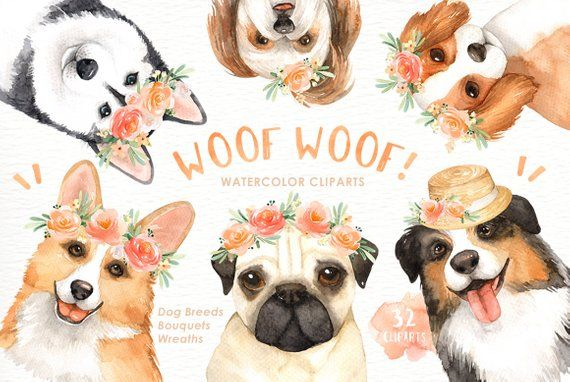 Woof lover cliparts woodland. Dogs clipart flower