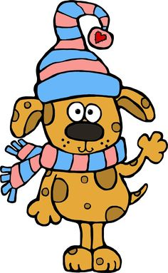 Clipart dogs winter.  best christmas dog